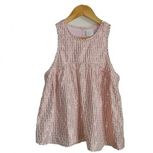 3/30$ KARL MARC JOHN Shiny Striped Pink Tank Top